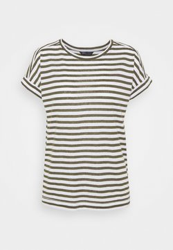 Marks & Spencer London - STRIPE - T-Shirt print - khaki