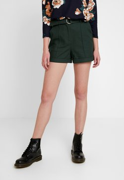Lost Ink - BUCKLE BELTED - Shorts - khaki