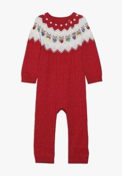 mothercare - BABY FESTIVE FAIRISLE - Jumpsuit - red
