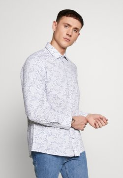 Burton Menswear London - SLIM DOT FLORAL PRINT - Skjorter - white