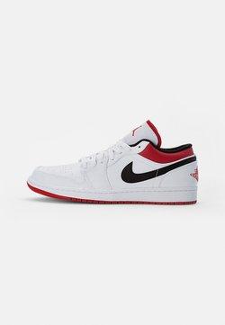 Jordan - AIR 1 - Matalavartiset tennarit - white/gym red-black
