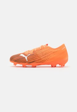 Puma - ULTRA 2.1 FG/AG JR UNISEX - Chaussures de foot à crampons - shocking orange/black
