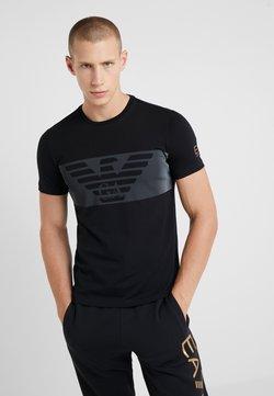 EA7 Emporio Armani - T-shirt z nadrukiem - black