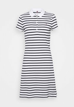 Tommy Hilfiger - STRIPE SLIM DRESS - Freizeitkleid - white/desert sky