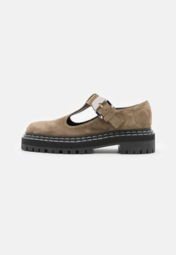 Proenza Schouler - COMBAT MARY JANE - Loafers - taupe