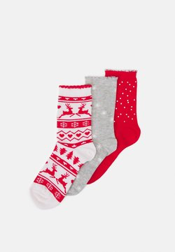 Boux Avenue - SOCKS IN A BOX 3 PACK - Socken - red mix