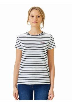 Vertbaudet - GESCHENK-SET: T-SHIRTS FÜR BABY & MAMA - T-Shirt print - weiß/blau gestreift