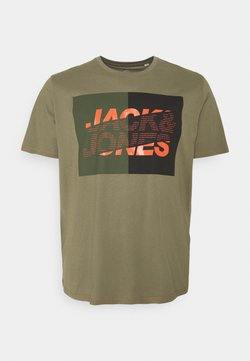 Jack & Jones - JCONOVO  CREW NECK  - T-shirt imprimé - deep lichen green