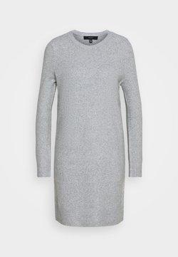 Vero Moda Petite - VMDOFFY O NECK DRESS PETIT - Robe pull - light grey melange