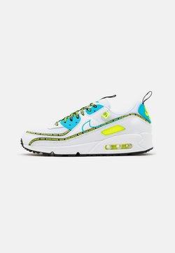 Nike Sportswear - AIR MAX 90 - Matalavartiset tennarit - white/blue fury/black/volt/dark grey