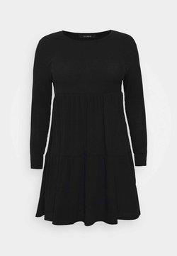 Evans - TIERED HEM DRESS - Freizeitkleid - black