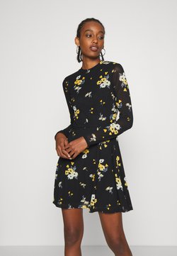 Even&Odd - Korte jurk - black / yellow