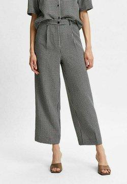 Selected Femme - KARIERTE - Pantalon classique - black