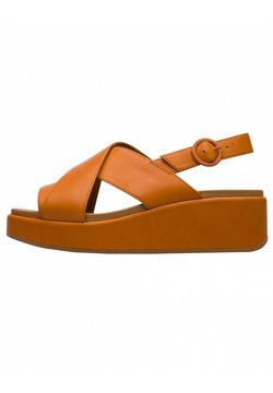 Camper - Sandalen met plateauzool - orange