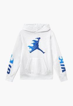Jordan - JUMPMAN FIRE  - Bluza z kapturem - white