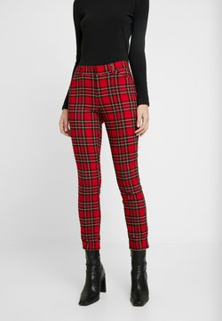 GAP - V-SKINNY ANKLE BISTRETCH - Stoffhose - red