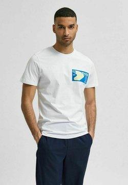 Selected Homme - T-shirt z nadrukiem - bright white