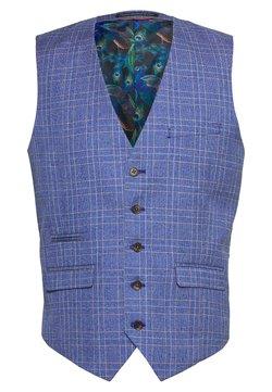 1904 - BLY JASPE OVER CHECK COAT SLIM FIT - Gilet elegante - mid blue