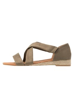 Dorothy Perkins Wide Fit - WIDE FIT REAM MINI CROSS OVER - Espadrille - khaki
