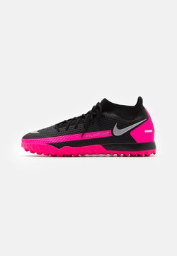 Nike Performance - PHANTOM GT ACADEMY DF TF - Fußballschuh Multinocken - black/metallic silver/pink blast