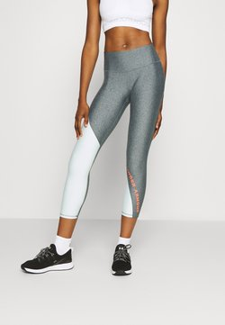 Under Armour - ANKLE CROP - Tights - charcoal light heather