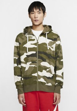 Nike Sportswear - CLUB HOODIE CAMO - Collegetakki -  olive/off-white