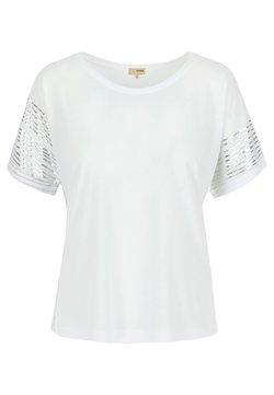 A ka so - SHASHA BANGL - T-Shirt print - white silver