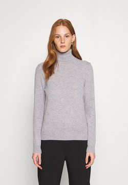 Benetton - TURTLE NECK - Strikkegenser - light grey