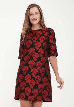 Madam-T - LIANA - Freizeitkleid - schwarz, rot