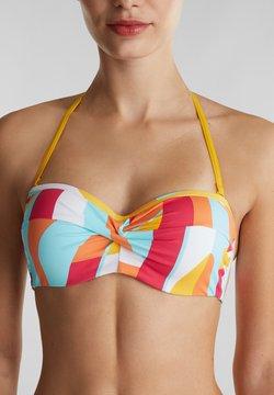 Esprit - MIT PRINT - Bikinitop - dusty yellow