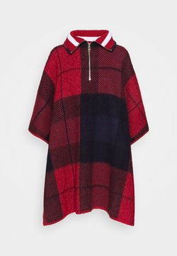Tommy Hilfiger - ICON ZIPPER CHECK - Cape - red/blue