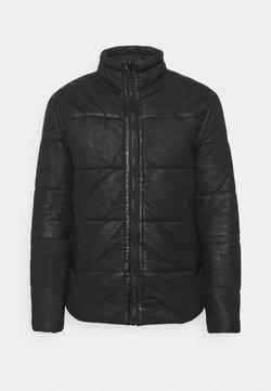 Goosecraft - FORSYTHE PUFFER - Leren jas - black