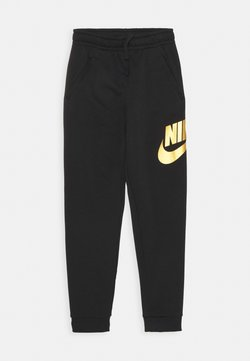 Nike Sportswear - CLUB PANT - Verryttelyhousut - black/metallic gold