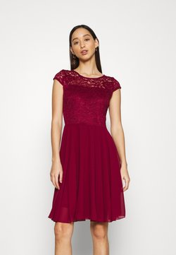 WAL G. - PEYTON SKATER DRESS - Cocktail dress / Party dress - wine