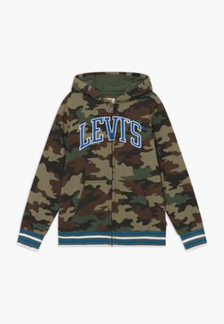 Levi's® - STRIPED FULL ZIP HOOD - Sweatjakke /Træningstrøjer - khaki