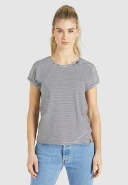 khujo - BABSI - T-Shirt print - schwarz weiß gestreift