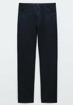 Massimo Dutti - MIT KONTRASTEN  - Jeans slim fit - blue black denim