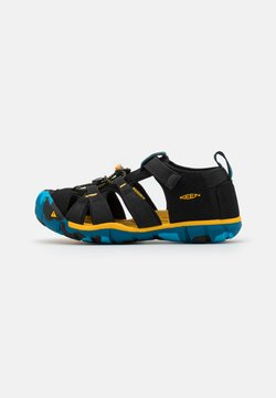 Keen - SEACAMP II CNX UNISEX - Sandały trekkingowe - black/yellow