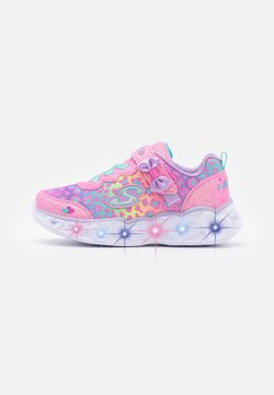 Skechers - HEART LIGHTS - Matalavartiset tennarit - hot pink /lavender/aqua