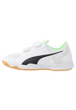 Puma - AURIZ V JR UNISEX - Gym- & träningskor - white/black/elektro green