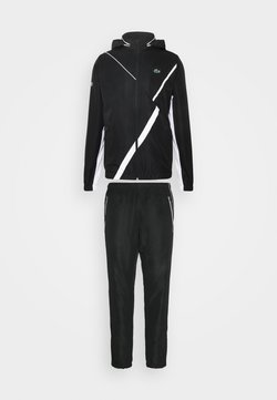 Lacoste Sport - TENNIS TRACKSUIT HOODED - Tuta - black/white