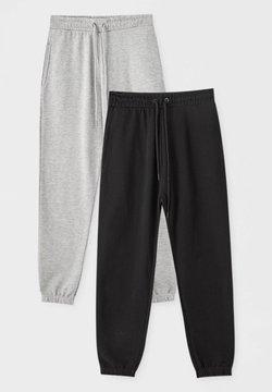 PULL&BEAR - 2 PACK - Jogginghose - dark grey