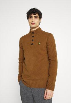 Lyle & Scott - FUNNEL NECK JUMPER - Pullover - tawny brown