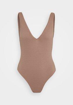 Seafolly - SEA DIVE DEEP V NECK MAILLOT - Costume da bagno - bronze
