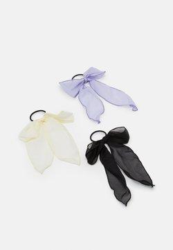 Pieces - PCANNEBELLE BOW ELASTIC 3 PACK - Haar-Styling-Accessoires - black/white/purple
