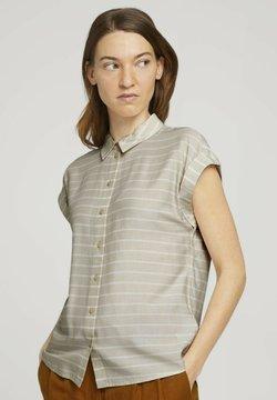 TOM TAILOR - Hemdbluse - beige stripe
