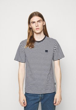 J.LINDEBERG - CHARLES STRIPE - T-Shirt print - navy