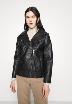 Cotton On - OVERSIZED BIKER JACKET - Keinonahkatakki - black