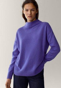 Massimo Dutti - MIT STEHKRAGEN - Trui - dark purple