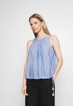 GAP - BUBBLE DOBBY - Bluse - blue chambray